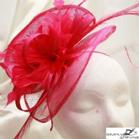 Hot Pink hatinator Fascinator Hatbox2/6 -1233 & 1182